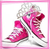 pink converse shoes by mandyCbabe
