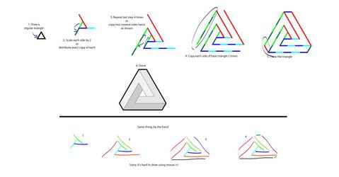 Penrose triangle tutorial by 4MaTC