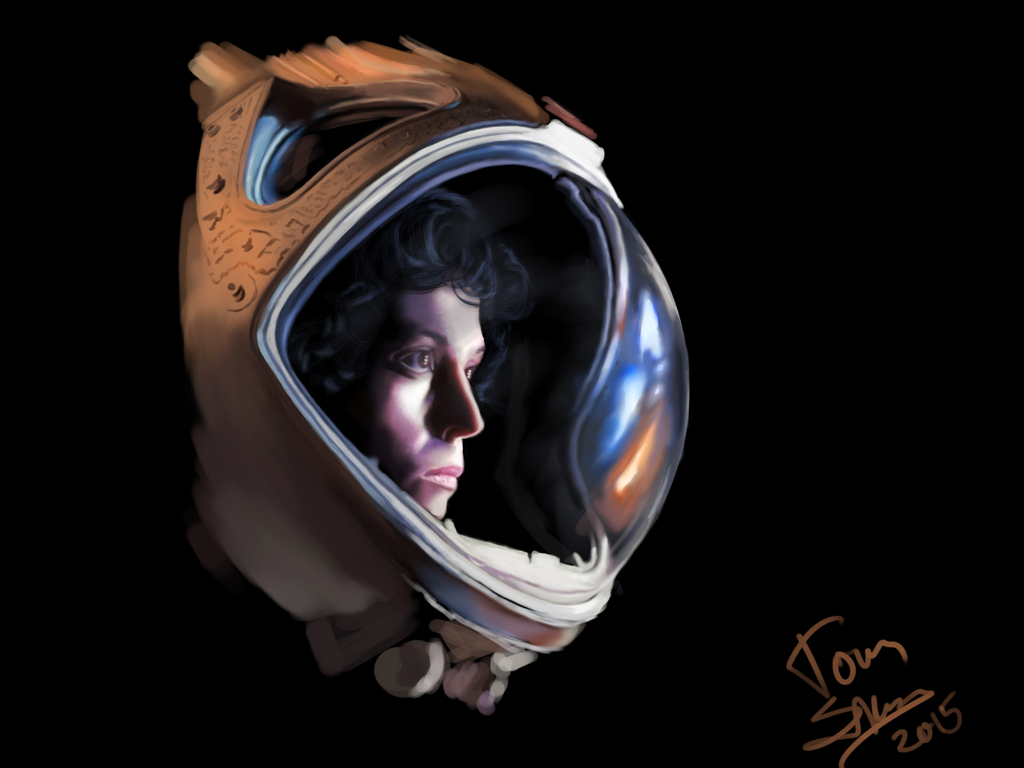 sigourney weaver wip by hampamatta on deviantart