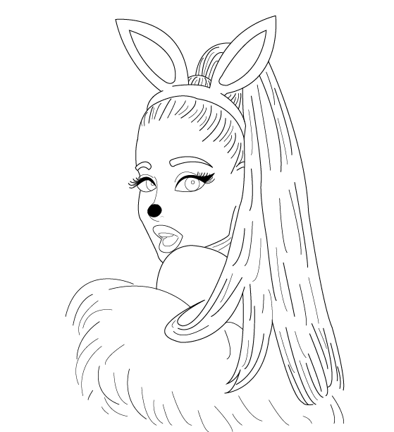 Ariana Grande Drawing Colouring Pages Sketch Coloring Page