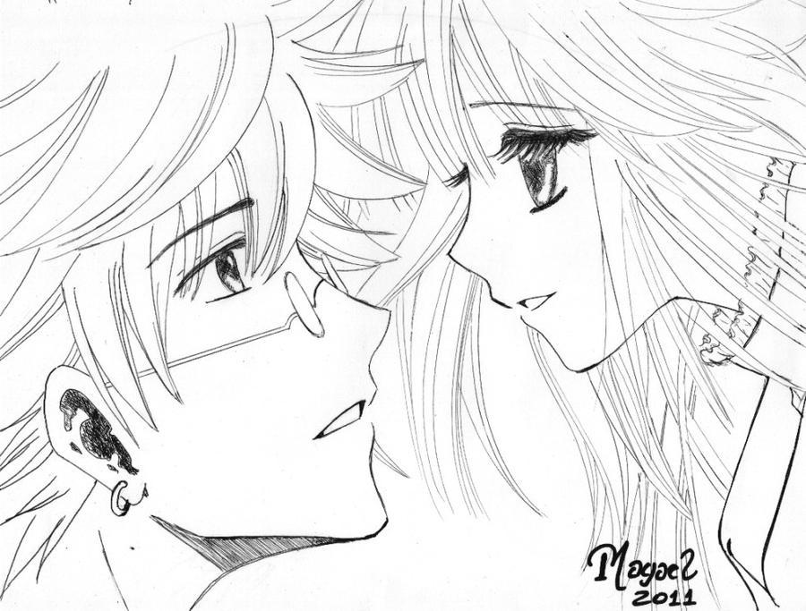 Encantador Parejas De Lobos Anime Para Colorear Modelo - Ideas Para ...