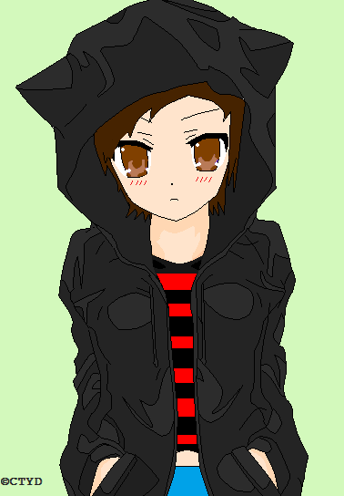 Anime Me In Cat Hoodie by MysticKyuubi24 on DeviantArt