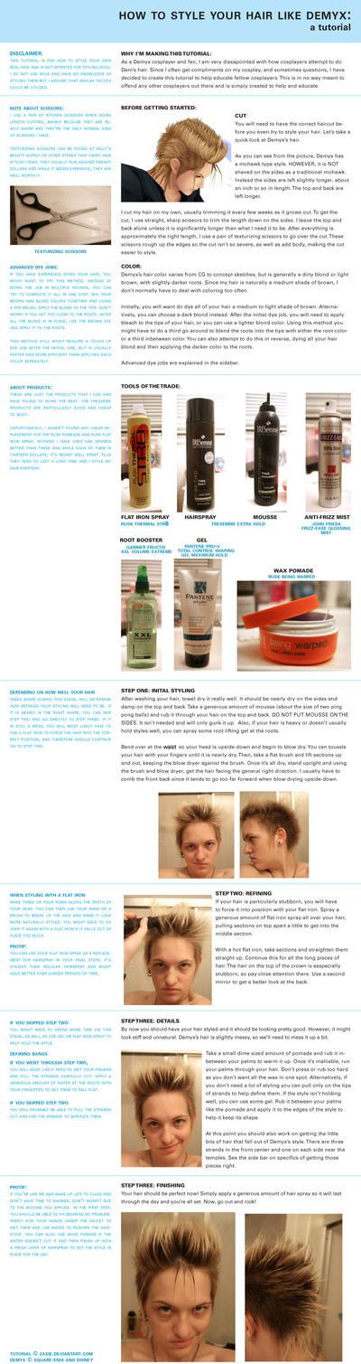 Demyx hair tutorial