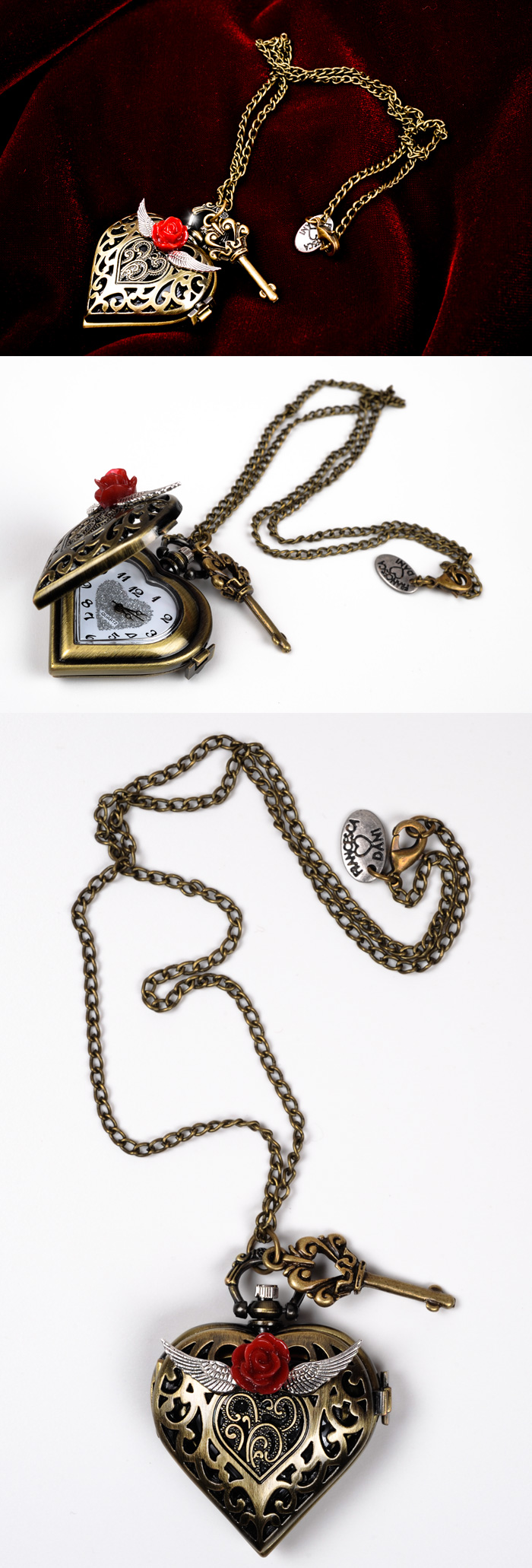 Heart Locket Watch by francescadani