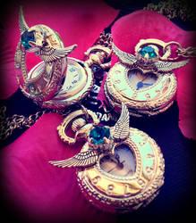 Silver Heart Locket Watch