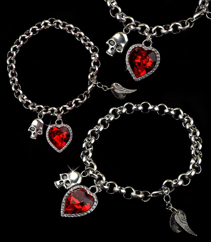 Ruby Heart Bracelet by francescadani