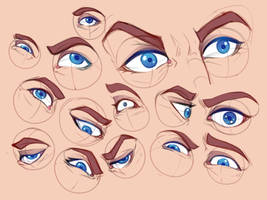 Eyes Study by RaikaiRan