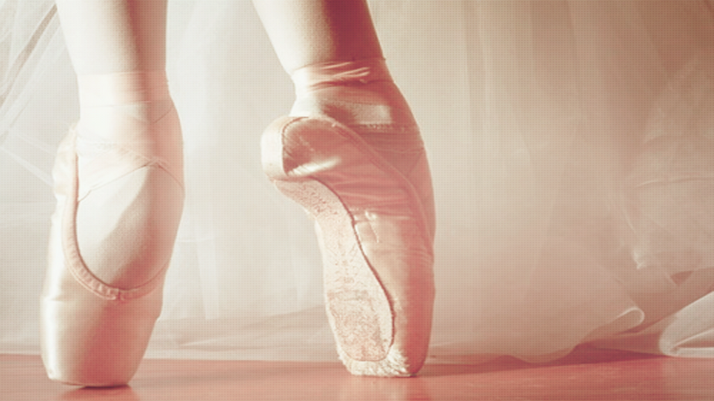 Pink pointe shoes wallpaper