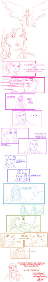Dean/Cas genderswap