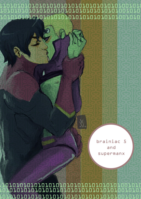 legion- brainiac5 and superman by missveryvery