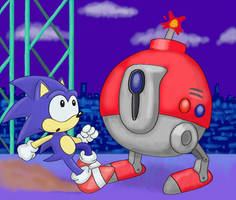 Sonic and the Giant Bomb by ChibiBeckyG