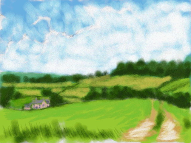 Art Academy DSi: Fields of Green by jennytablina