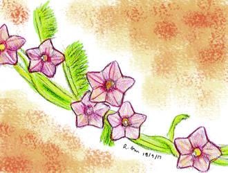 Rose Feather Morning Glory by ChibiBeckyG