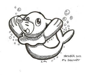 Inktober 17 - Underwater by ChibiBeckyG