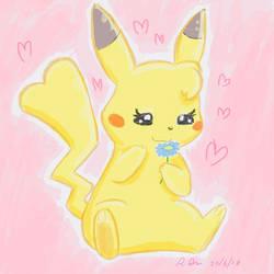 Female Pikachu by ChibiBeckyG