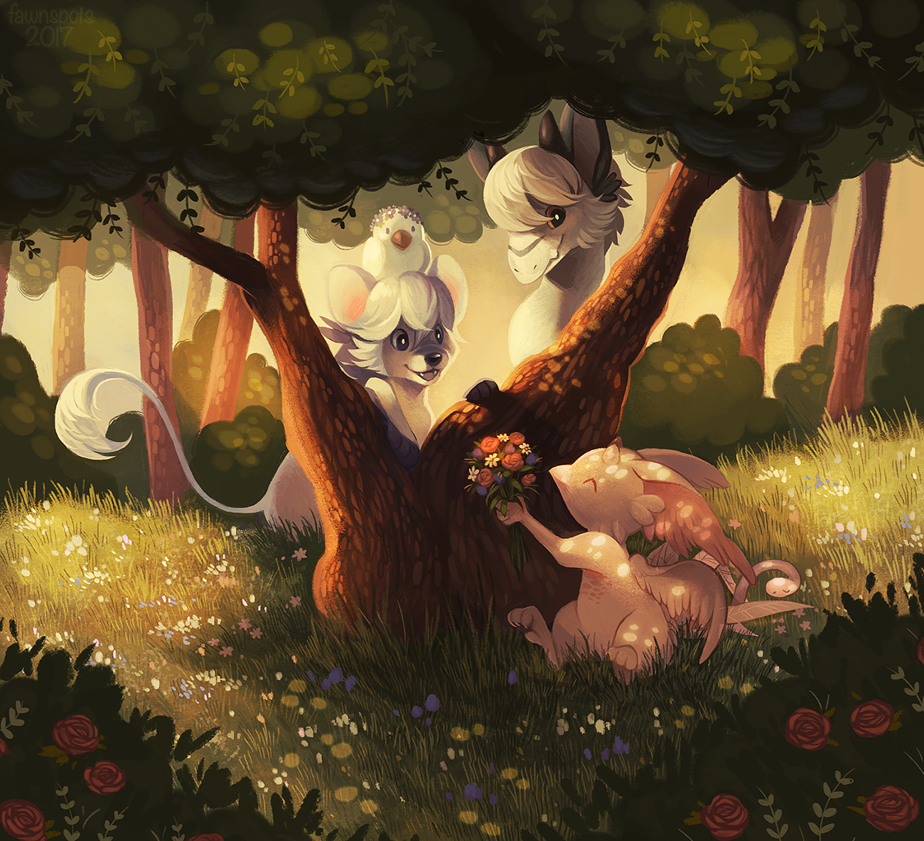 Friendship in the Thicket by Fawnpuppy