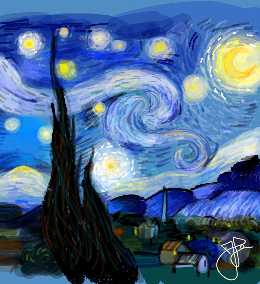 Starry Night (26) by Hedwigs-art