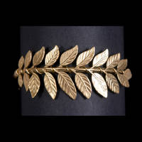 Brass Fern Leaf Bangle by EmilyEJewelry