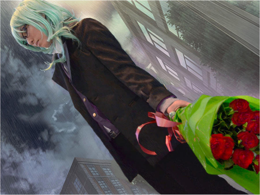 In the rain by eleanoryoko