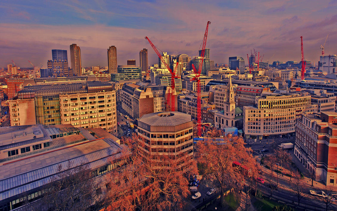 London Cranes 'HDR' by smaisch