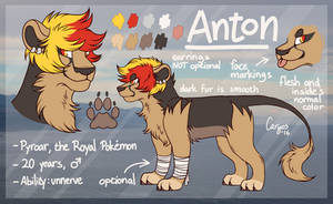 Anton | Pokesona reference sheet [2016 - current]