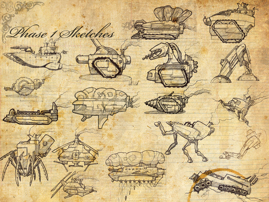 Steampunk 2d Sketches By Vice552 On Deviantart