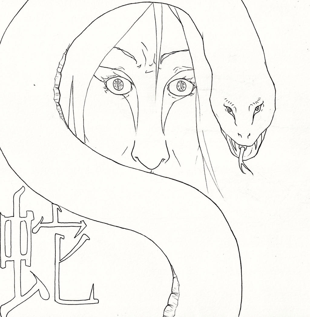 Line art orochimaru by theaddster on deviantart for Jiraiya coloring pages