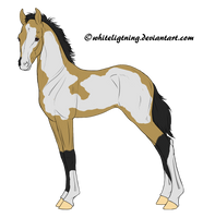 Buckskin Overo Adoptable CLOSED by Losas