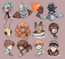 Character Headshot Dump by thedandmom