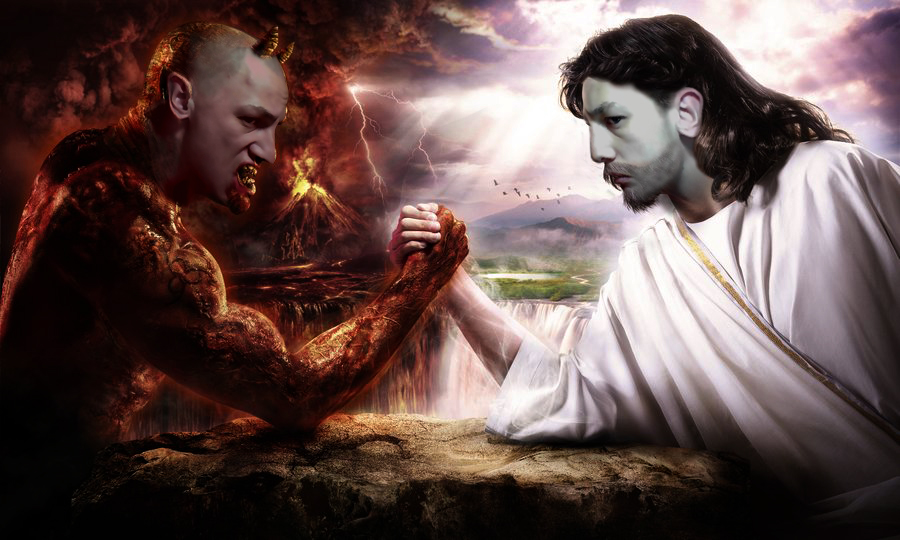 Satan Vs God Wallpaper Satan vs god wallpaper