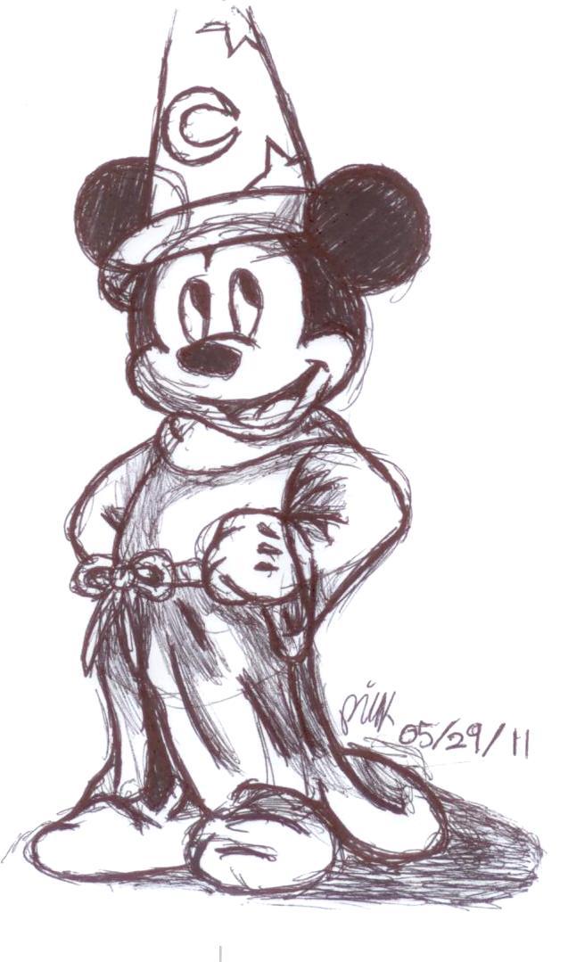 Sorcerer's Apprentice Mickey by AJgirl
