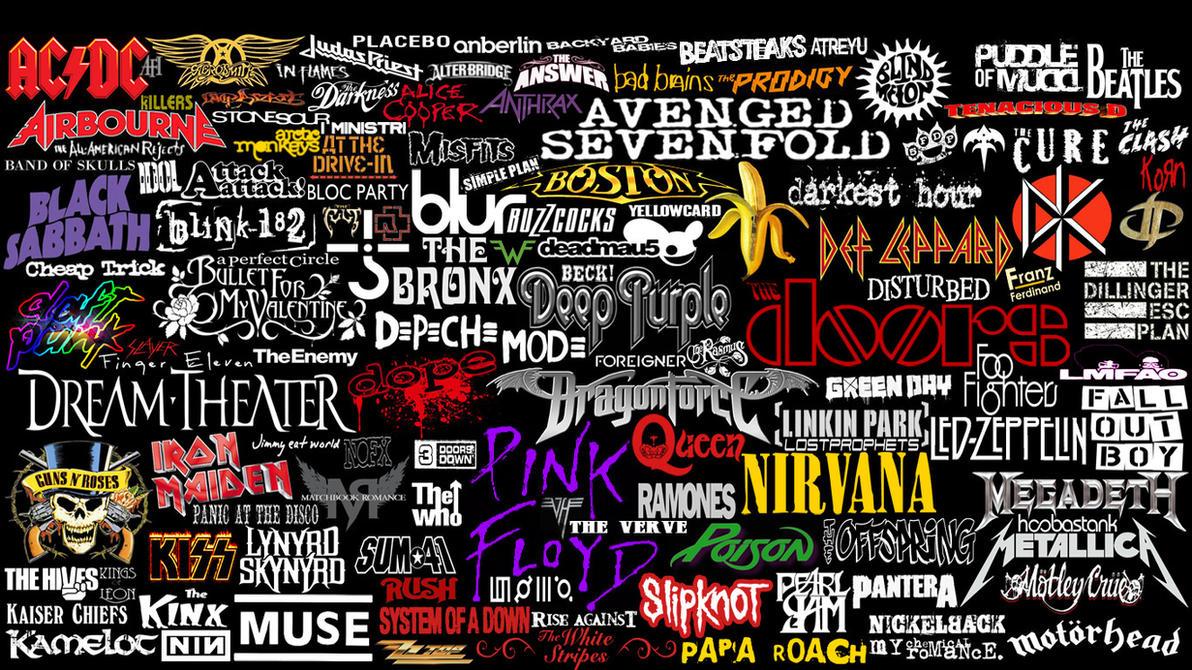 Good Wallpaper Logo Collage - kinda_rock_bands___logos_collage_by_superbrogio-d4l2caz  Image_21821.jpg
