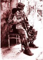 soldier in pen by lasuricata