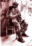 soldier in pen