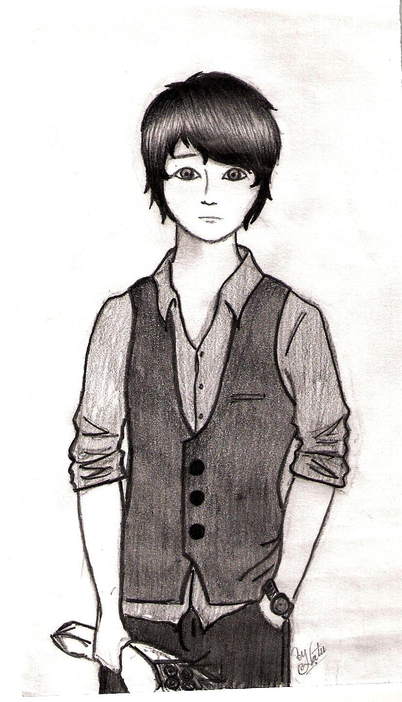 Drawings of sad boyssad boy drawing