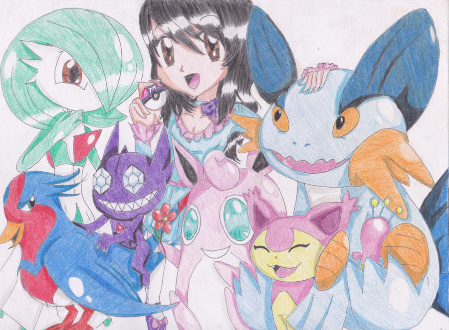 My Pokemon Emerald Family ~ by FlyingCatsandGlitter