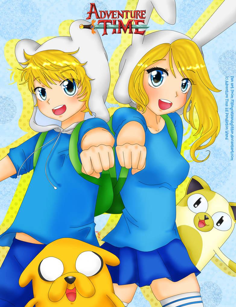 Adventure Time_Finn n Fionna by reese-yamawe on DeviantArt