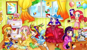 MLP MANE 6 ~ as LITTLE GIRLS !!