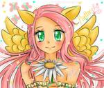Sparkly Fluttershy gijinka