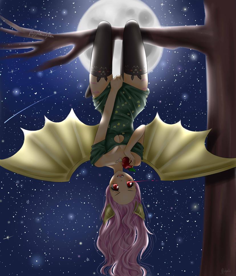 Flutterbat gijinka by FlyingCatsandGlitter
