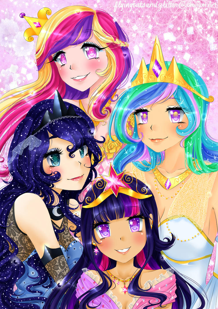 The Princesses of Equestria by FlyingCatsandGlitter