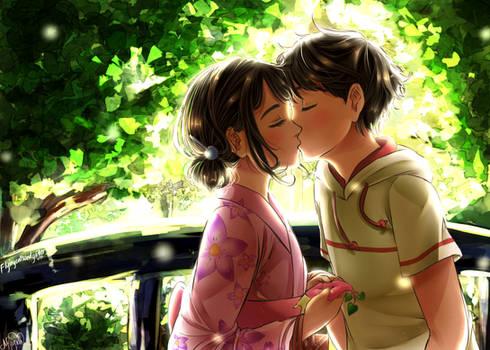 Tsuki ga Kirei- First Kiss by Monicherrie