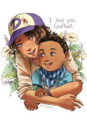 TWD: Clementine and AJ by Monicherrie