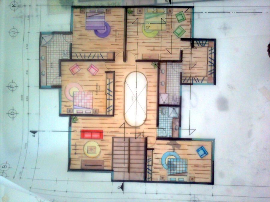 Floor Plan Rendering By Daiijonas On Deviantart