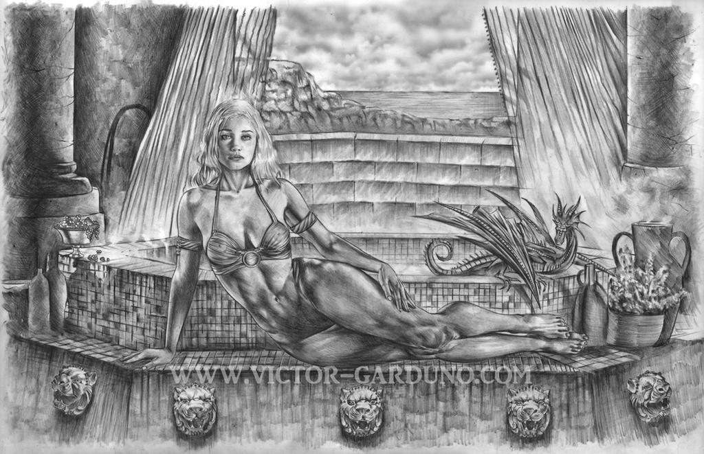 Daenerys Game of Thrones drawing. by ArtofGarduno