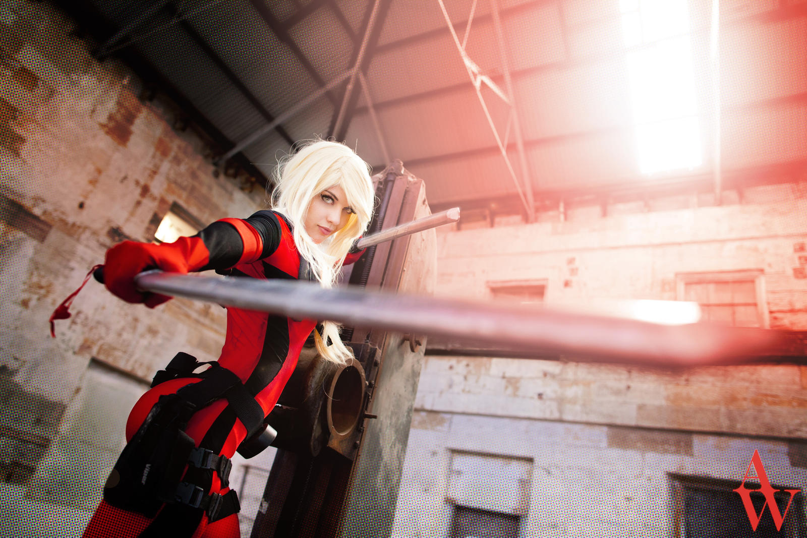 Lady Deadpool by Black Cat by AndyWana