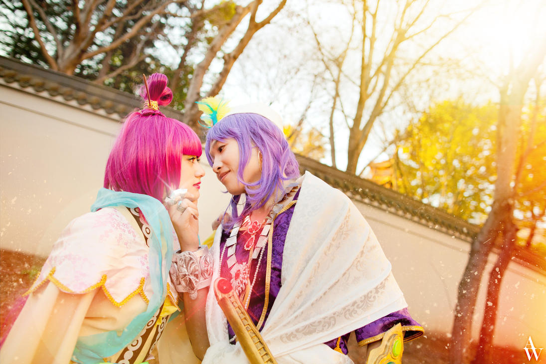 The Kiss - Sinbad and Kougyoku Ren (Magi) by AndyWana