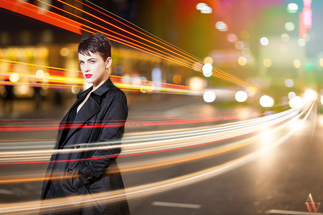 Light Trails Modern Day Audrey Hepburn By Andywana On