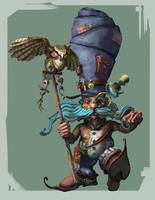 Gnome and owl companion by coMceptArt971