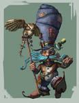 Gnome and owl companion